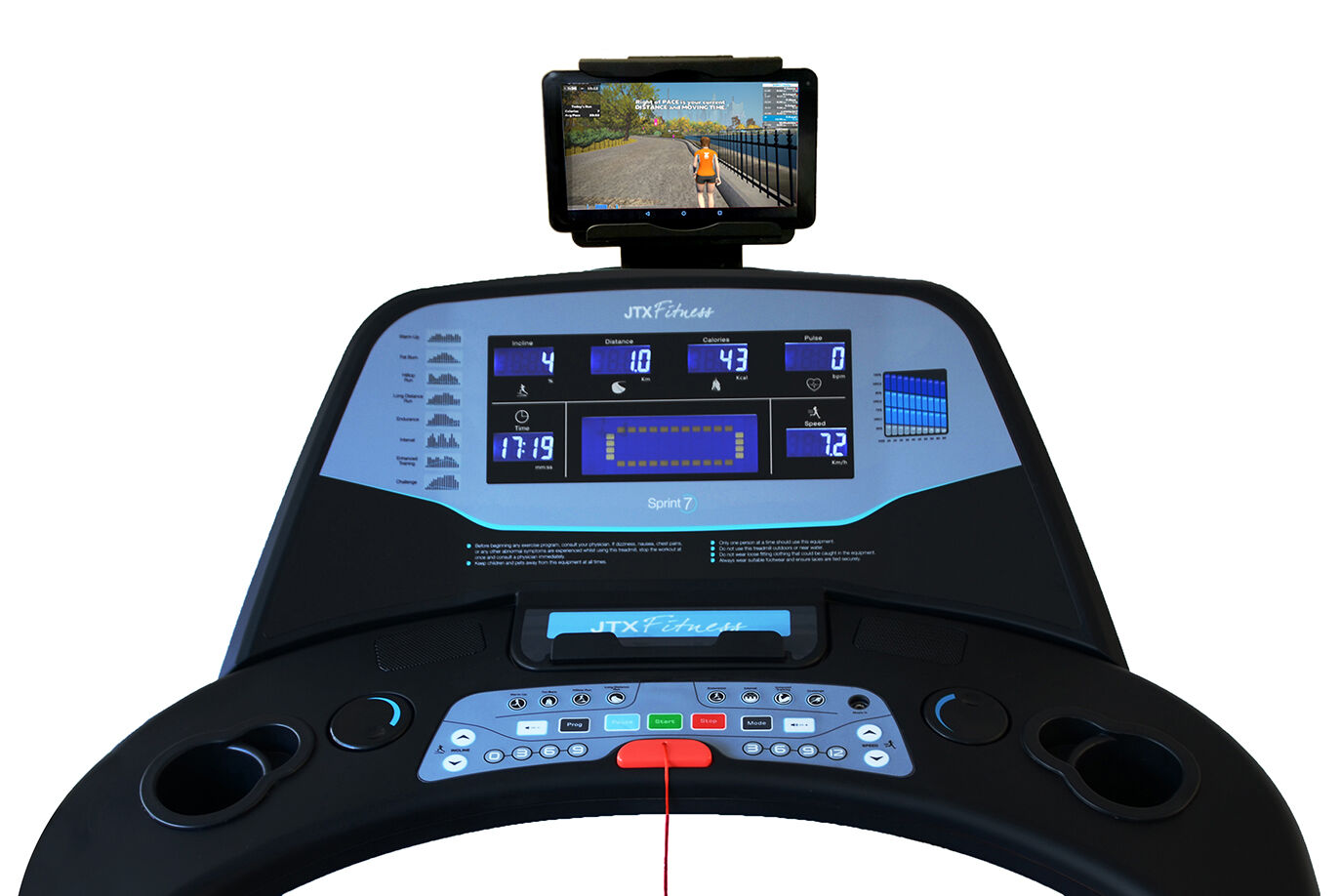 Console of Used JTX Sprint-7 Treadmill