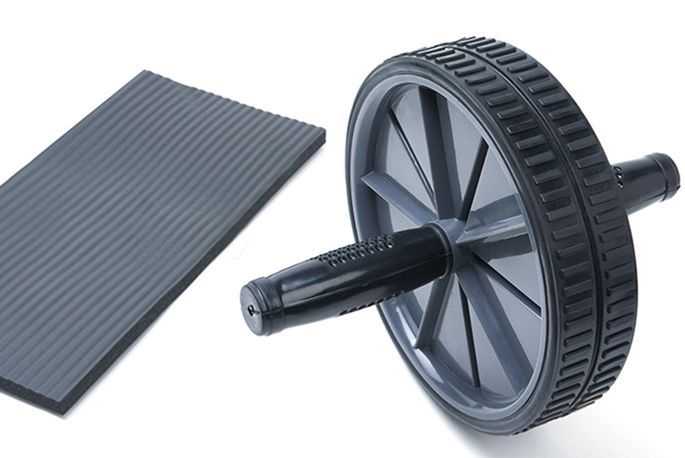 Double Wheel Ab Roller with Knee Mat