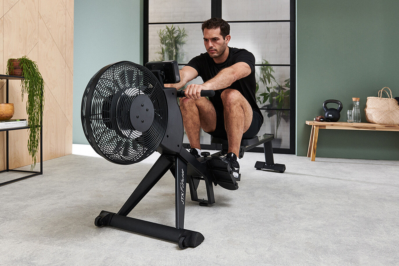 Folding Rowing Machine - Robust Metal Fan Cage