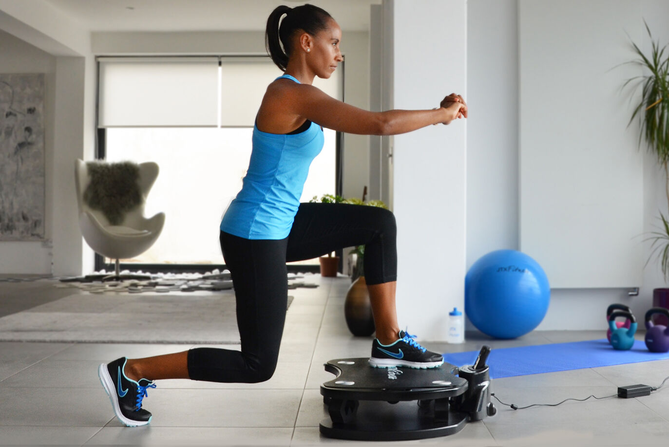 Personal power plate lunge