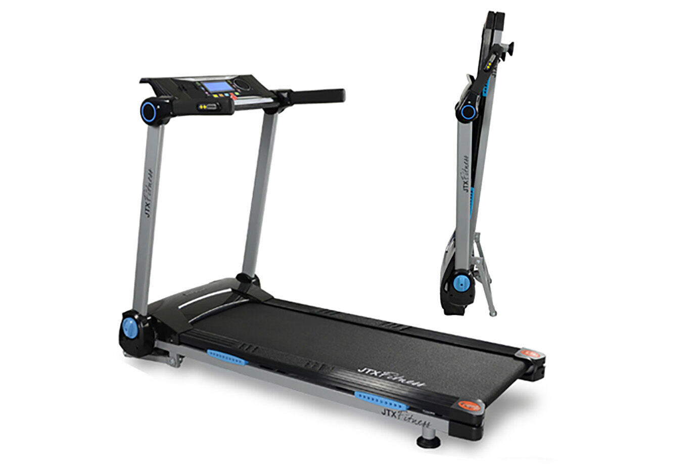 Slim Treadmill Side View and Folded