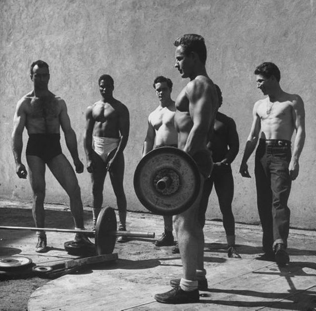 Vintage weightlifting