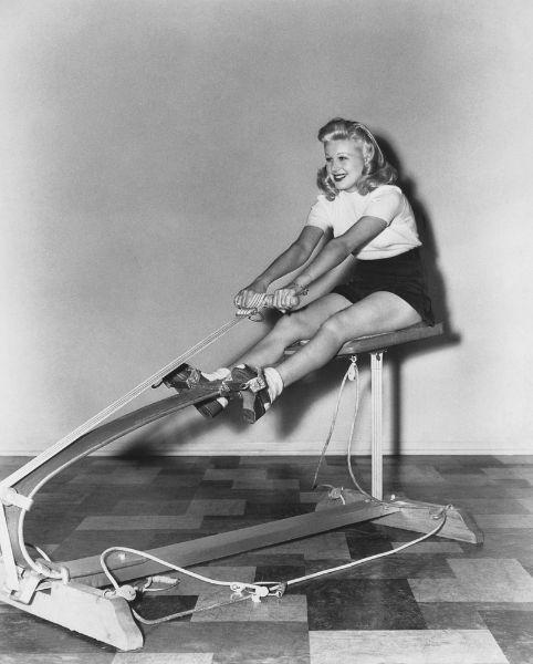 vintage rowing machine