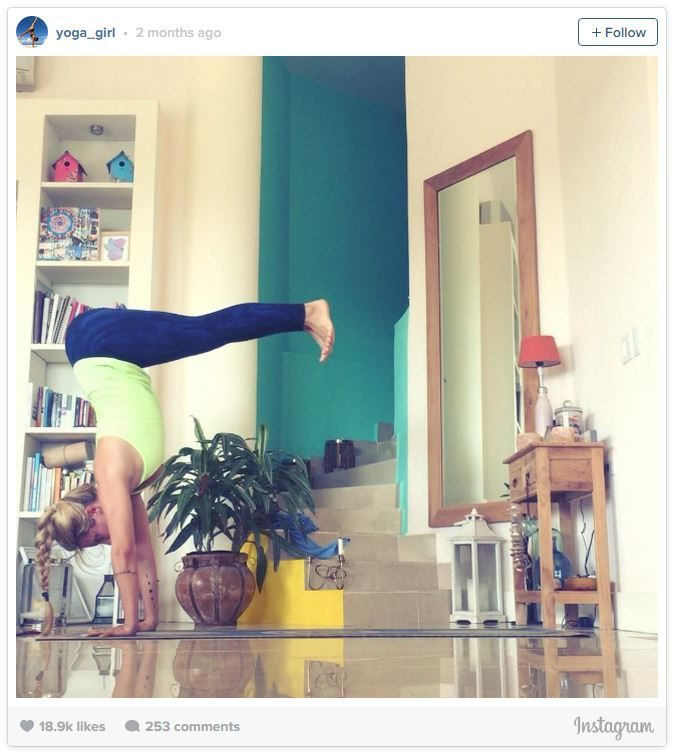 Home Gym Design Inspiration Yoga girl