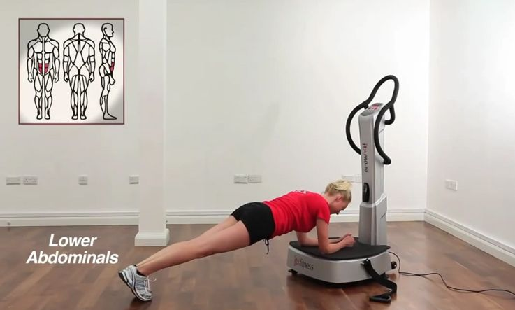 Lower Abdominals Exercises On A Vibration Plate