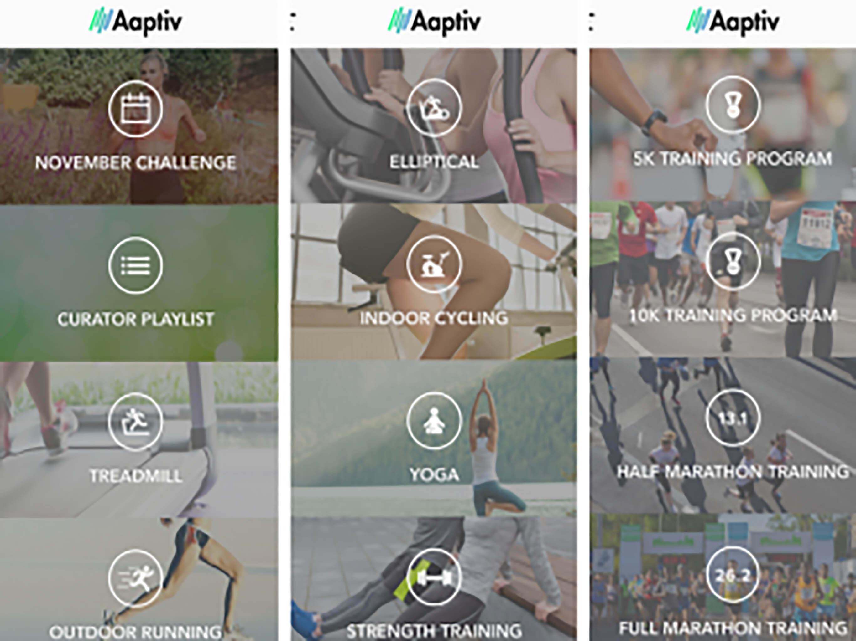 Aaptiv; Treadmill apps
