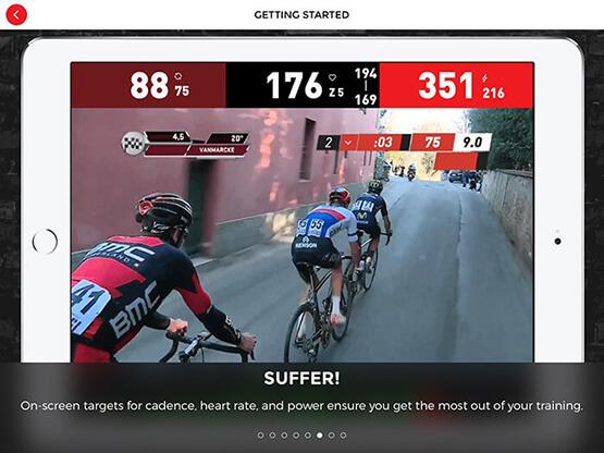 Best Indoor Cycling App; SufferFest