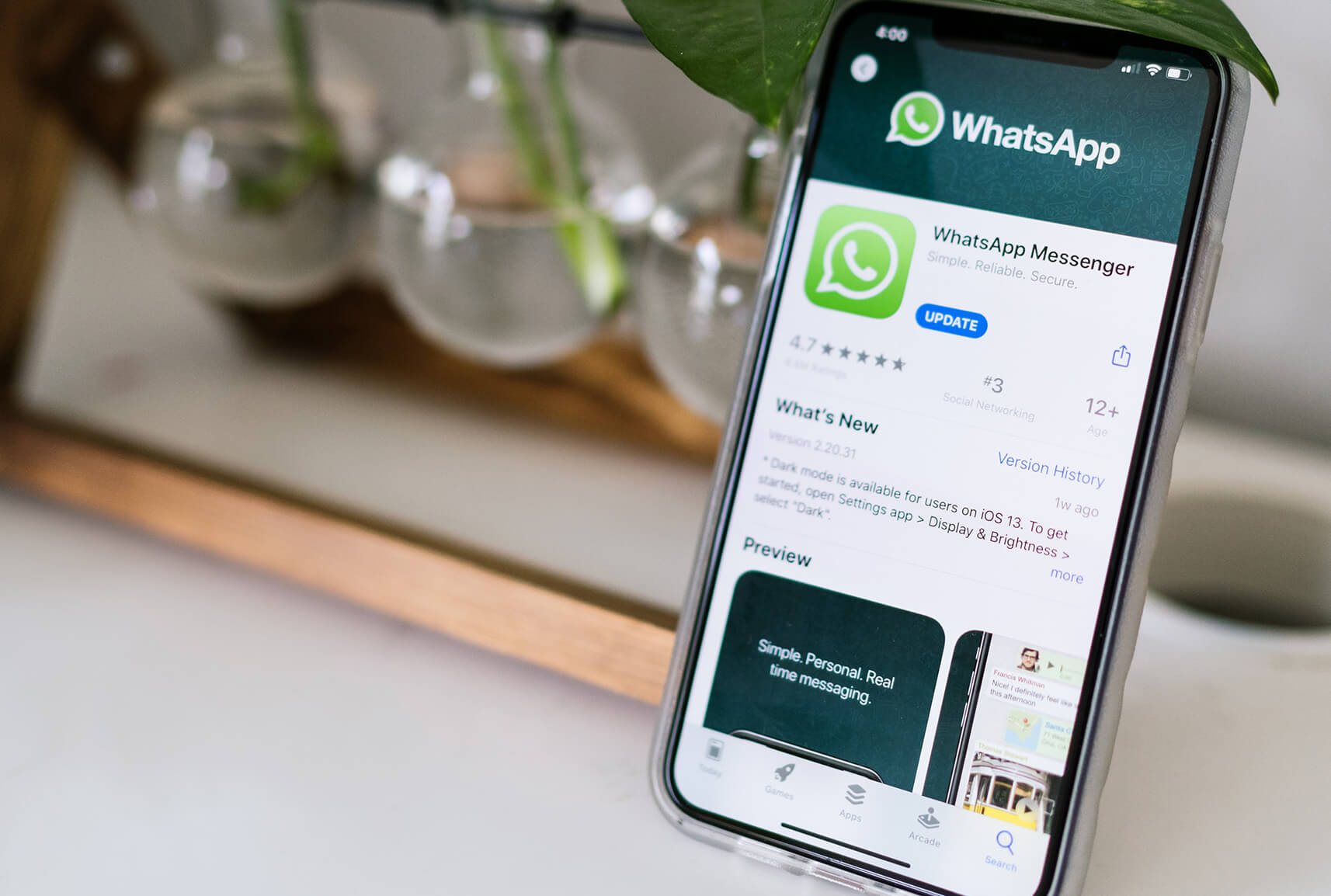 Using WhatsApp app to stay connected in self isolation