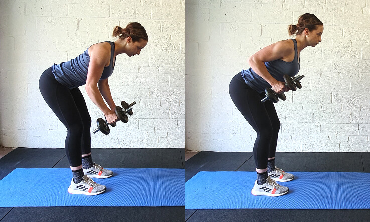 Workout regime - bent over row