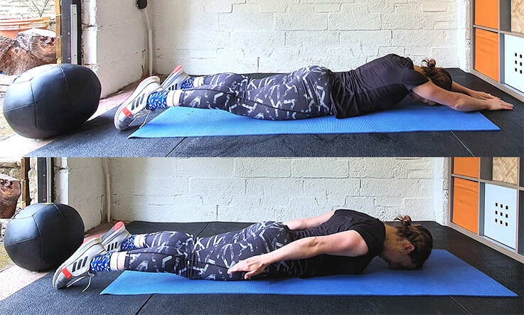 Best shoulder stretches - Face down snow angel