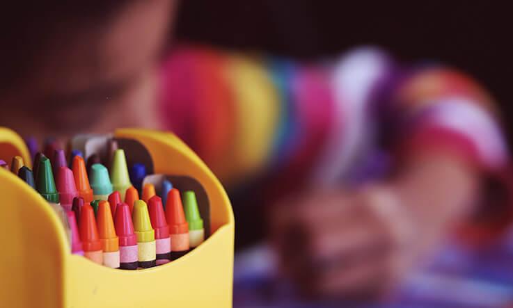 Indoor activities with kids - drawing