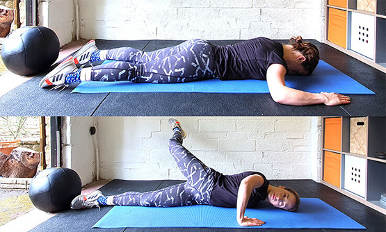 Best shoulder stretches - lying chest stretch