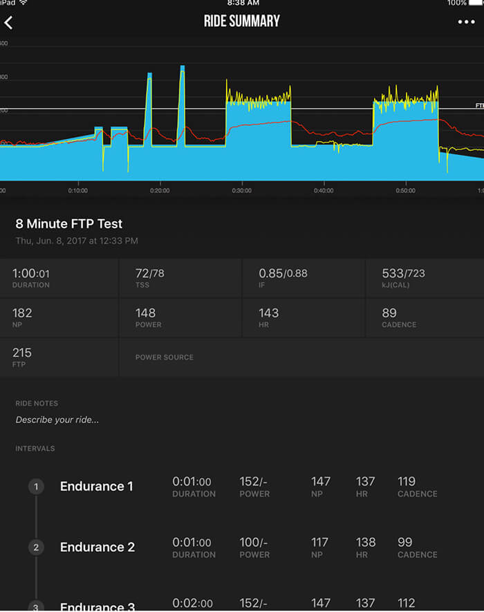 TrainerRoad; Exercise Bike App