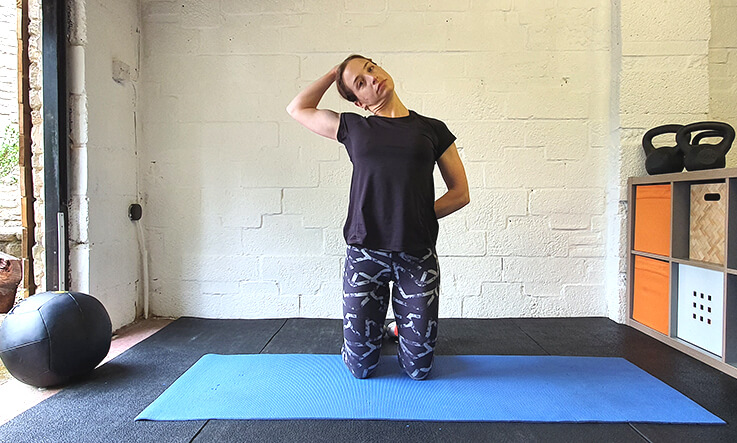 Best shoulder stretches - upper trap stretch