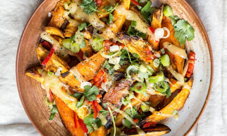 Meal Ideas - Deliciously Ella Roasted Sweet Potato Wedges