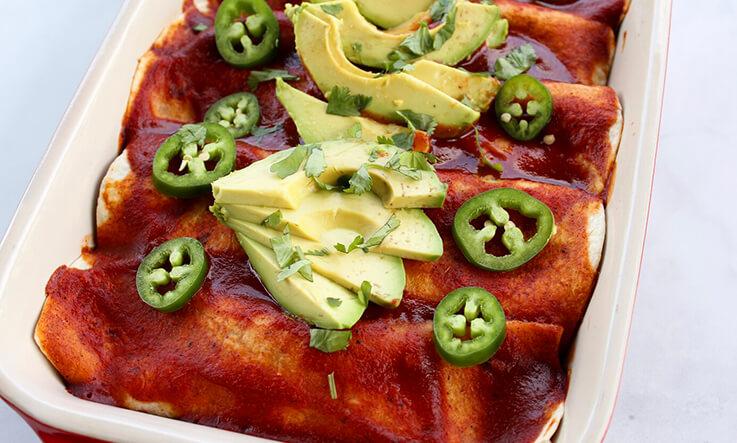 Meal Ideas - Eleat Sports Nutrition Black Bean Enchiladas