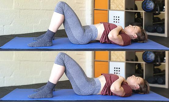 Lower back stretches - Pelvic tilt