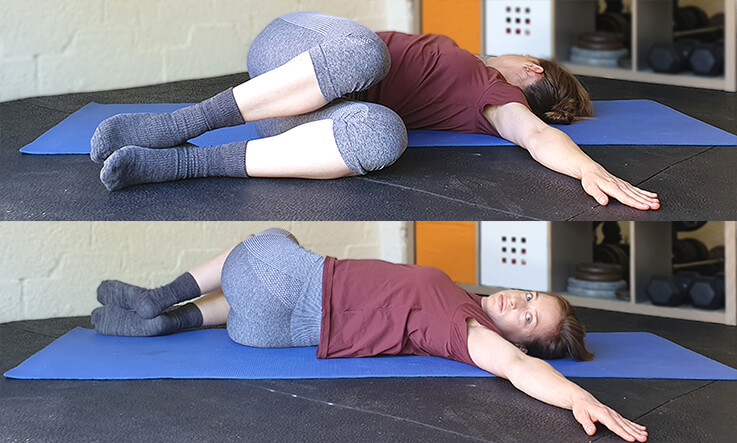 Lower back stretches - Supine spinal twist
