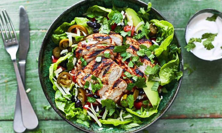 Meal Ideas - The Body Coach - Chipotle Chicken Burrito Bowl