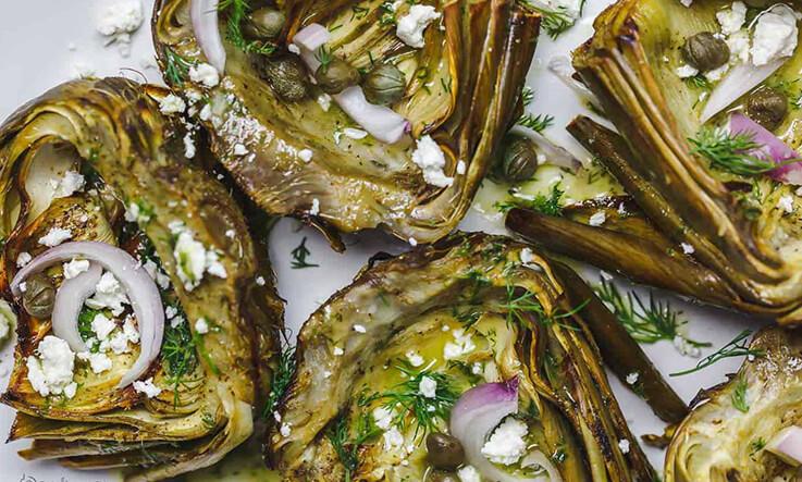 Meal Ideas - The Mediterranean Dish Roasted Artichoke
