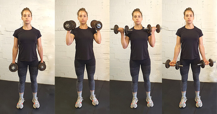 Dumbbell Workout - Bicep to Hammer Curl