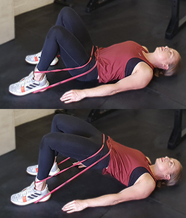 Resistance Band Workout - Glute Bridge